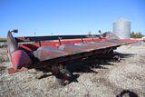 Case IH corn head, model 1083 on carrier.