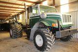 1998 International 4900 spreader truck, vin 1HTSDADL4XH577572, miles on odo
