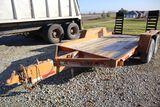 Redi Haul tandem axle trailer for skidloader, vin UNK, 12' x 74
