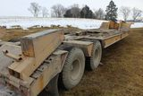 Transport detach trailer, sn UNK, tandem axle, beavertail, ramps, 20' deck,
