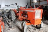 Allis Chalmers 180 diesel tractor, w/loader, sn UNK, , PTO hyd., 3 point.