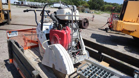 ENM R-20 concrete saw, with GX-620 motor.