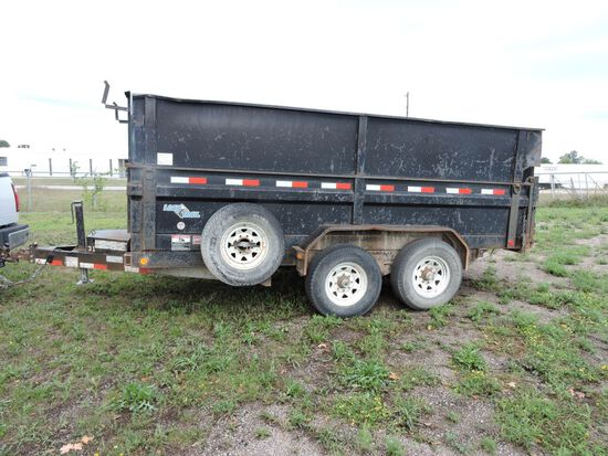 """LoadKing dump trailer, vin 4ZEDT142X71028365, 14' x 80"""" x 55"""", GVWR 14,000"""