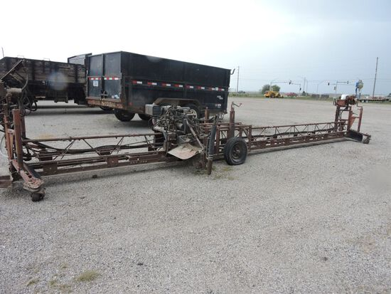 Portable screed with Industrical Commerical heavy duty engine, 8 hp.  Condition unknown.