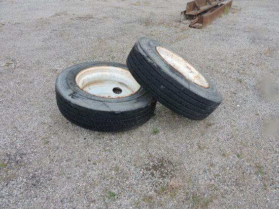 (2) Tires on rims.