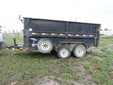 LoadKing dump trailer, vin 4ZEDT142X71028365, 14' x 80