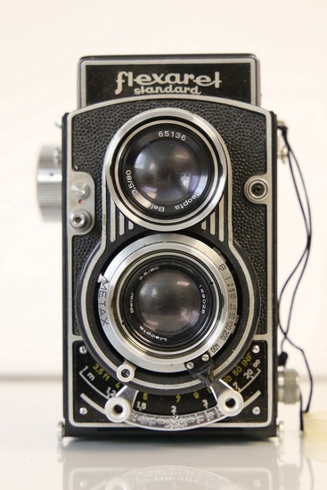 Meopta Flexaret TLR Camera, with Leather Flexaret S Case and Plastic Meopta Lens Cover