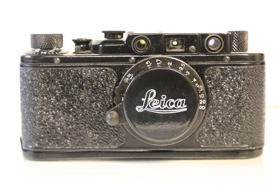 Leica Camera with Leather Case