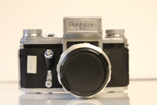 Pentacon FB SLR Camera with Leather Case and Zeiss Lens (50mm)