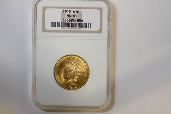 1912 $10 Gold Coin, Indian Head Eagle