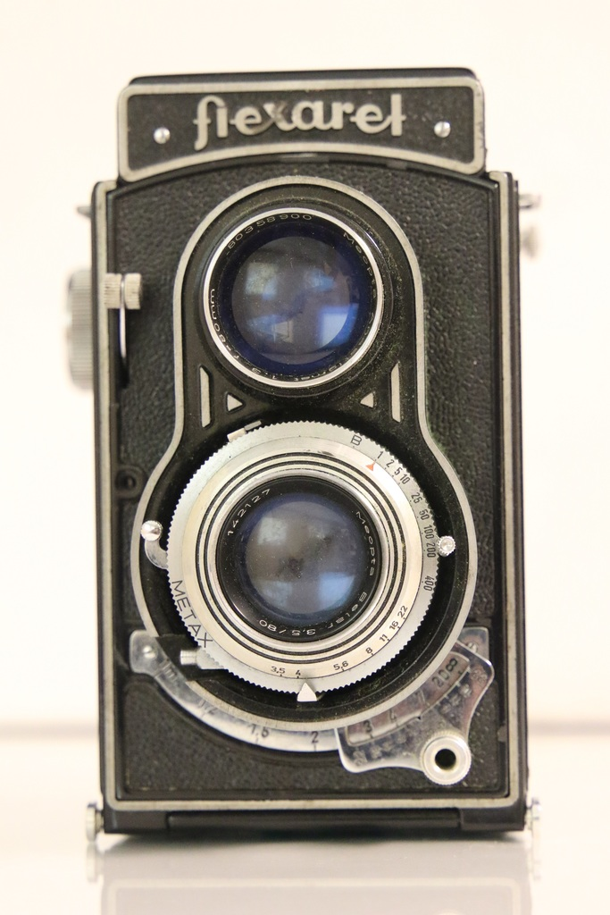 Meopta Flexaret TLR Camera with Leather Case