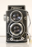 Meopta Flexaret TLR Camera, with Leather Flexaret S Case, and Meopta Lens Cover
