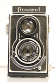 Meopta Flexaret TLR Camera with Leather Case and Plastic Lens Cover