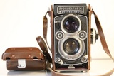 Rollei Rolleiflex TLR Camera with Leather Case