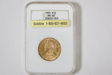 1895 $10 Gold Coin, Liberty Head