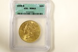 1906 S $20 Gold Coin, Liberty Head
