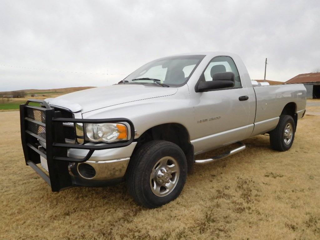 2004 DODGE 2500 PICKUP, 5.9 HI-OUTPUT CUMMINS DSL., AUTO, LONG BED, SHOWS 9