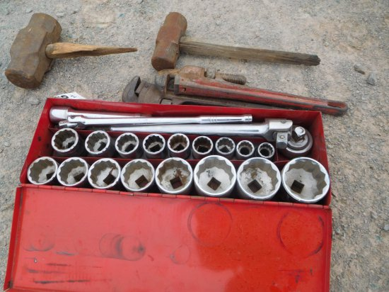 """3/4'"""" DRIVE SOCKET SET, PIPE WRENCHES"""
