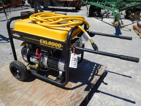 BRIGGS & STRATTON EXL 8000 GENERATOR, ELECT. START, 15HP
