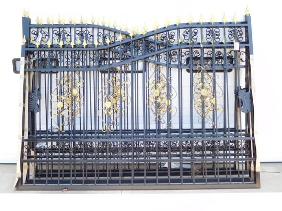 SET OF 2 -10' DECORATIVE IRON GATES