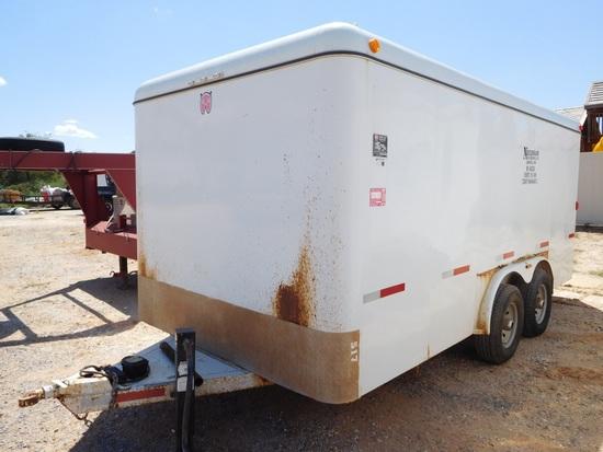 2013 WW 7' x 16' ENCLOSED TRAILER, TA, BP w/HOTSY 1270 SS STEAMER, HONDA GX