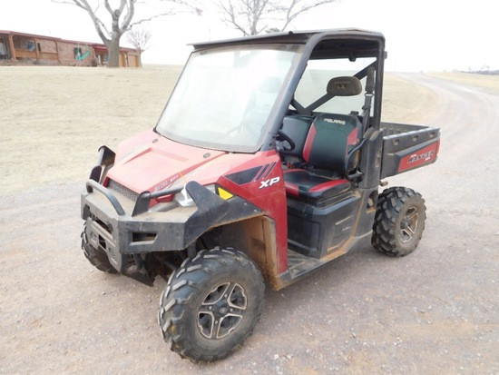 2014 POLARIS 900 RANGER XP, POWER STEERING, 4 X 4, FULL FRONT AND REAR WIND