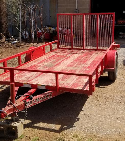 12' Utility Trailer, SA, Rear Gate/Ramp
