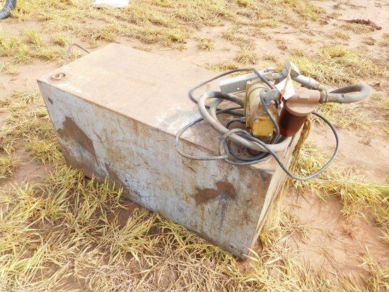 Square Fuel Tank, Fill-Rite, 13 GPM, Transfer Pump, 12 Volt