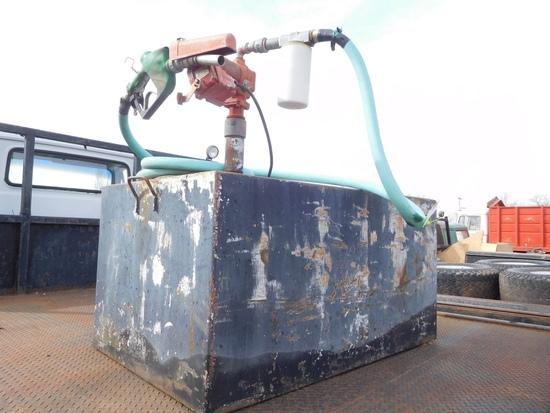 Square Fuel Tank, 12 Volt Transfer Pump