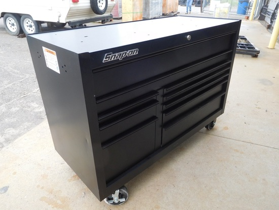 """SNAP-ON ROLL AROUND TOOLBOX 24"""" X 55"""" X 39"""", 10 DRAWER, (KEPT IN OFFICE)"""