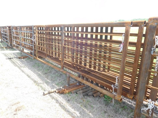 24' HEAVY DUTY FREE STANDING PANELS, ONE WITH 12' GATE ***SOLD TIMES THE MONEY*