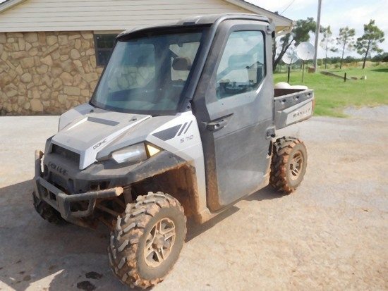 2015 Polaris 570 EFI Side by Side, 4 x 4, Cab, Shows 571 Miles, 226 Hrs.