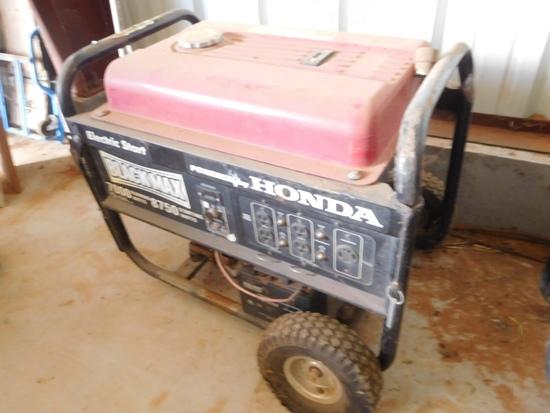 Black Max 7000 W. Generator, Honda, Gas, Electrict Start