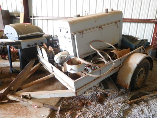 Lincoln SA200 Welder, Gas, Leads, Trailer Mounted