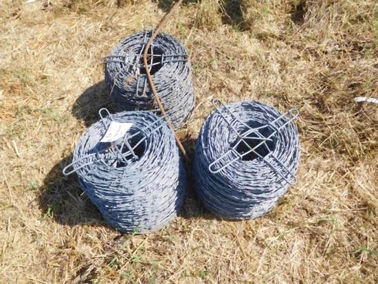 Roll of New Barbed Wire
