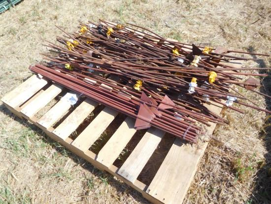 Lot of Electrical Fence Post
