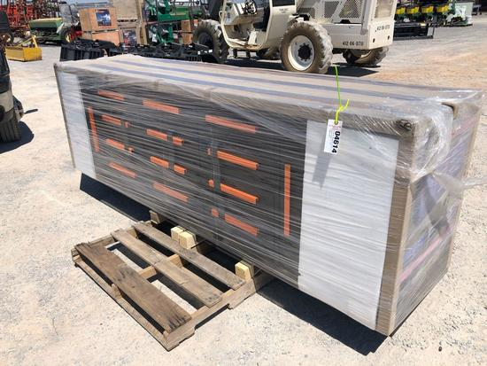 """112.5"""" X 26.4"""" X 35.4"""" WORK BENCH W/ 2 CABINETS & 12 DRAWERS"""