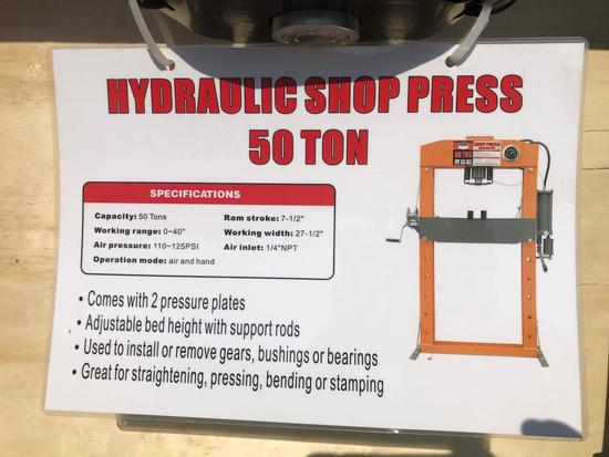 50 T. SHOP PRESS, UNUSED