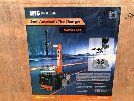 TMG SEMI-AUTO TIRE CHANGER, UNUSED