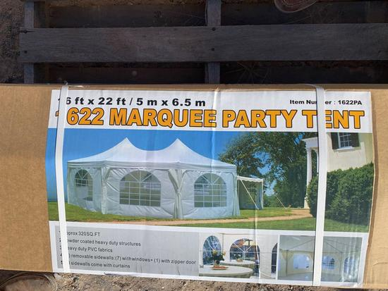 16' X 22' MARQUEE EVENT TENT, 320 SQ, FT,