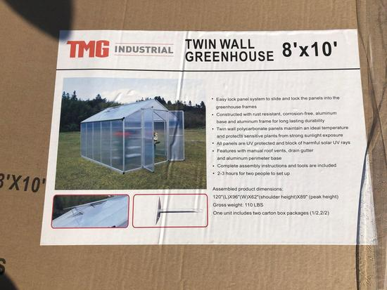 8' X 10' TWIN WALL GREEN HOUSE