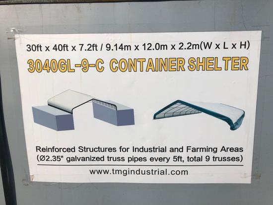 30' X 40' PEAK CEILING CONTAINER SHELTER