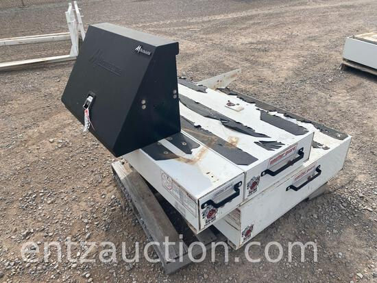 (1) SMALL WEATHER GUARD RAT PACK TOOLBOX, (1)