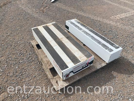 (1) SMALL WEATHER GUARD PACK RAT TOOLBOX, (1)