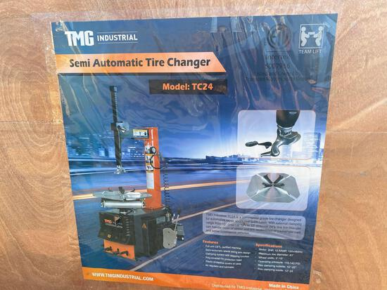 TMG SEMI AUTO TIRE CHANGER, MODEL TC24,