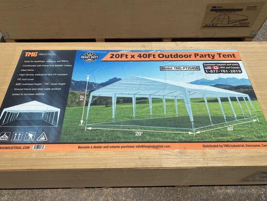 TMG 20' X 40' OUTDOOR PARTY TENT, UNUSED...