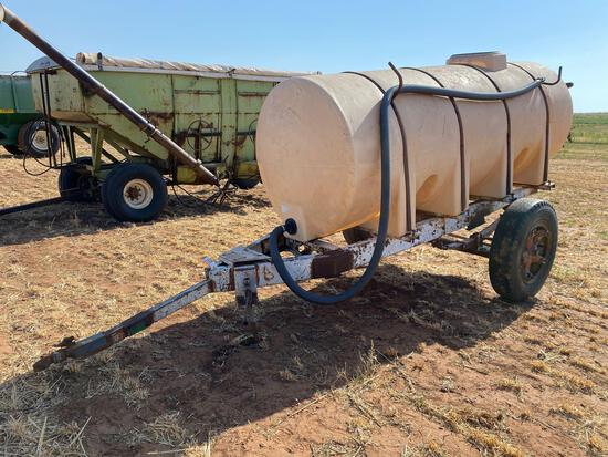 2 WHEEL TRAILER W/1000 GALLON POLY TANK