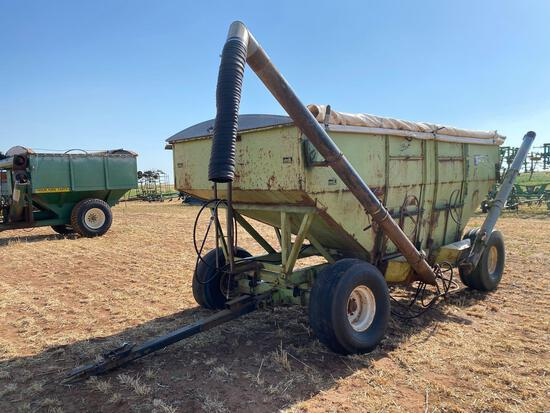 PARKER DOUBLE HOPPER GRAVITY WAGON, 2 HYD. AUGER