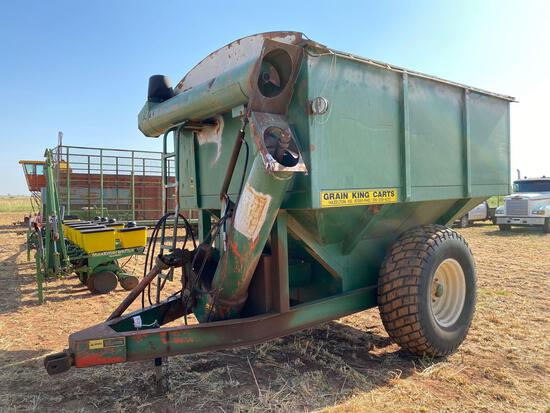 GRAIN KING 400 BU. GRAIN CART, FOLDING AUGER