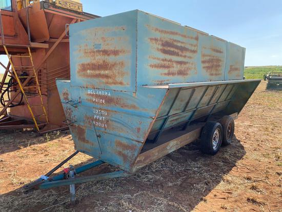 OKLAHOMA PRIDE 16' PORTABLE CATTLE FEEDER 325 BU., TA